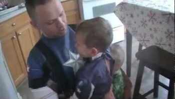 Military Dad Disguised As Captain America Surprises Young Son