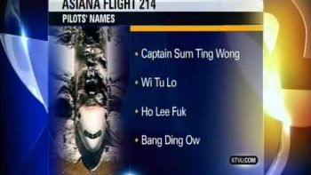 KTVU News Anchor Reads Fake Racist Asiana Pilot Names