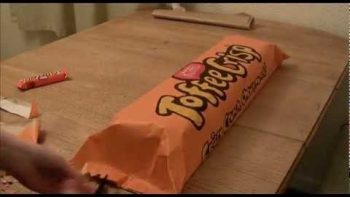 Homemade Giant Toffee Crisp Bar Time Lapse