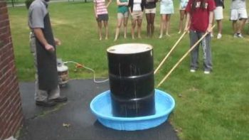 High School Experiment Implodes 55 Gal Steel Barrel With Changing Temperatures