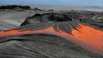 Rivers Of Molten Lava From Hawaiian Volcano Pu`u O`o