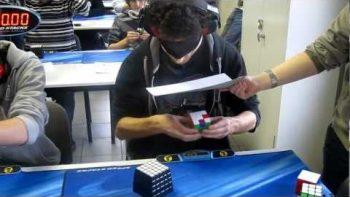 Marcell Endrey Breaks Rubik's Cube Solving World Record While Blindfolded