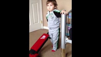 Two Year Old Says F-You Instead Of Vacuum