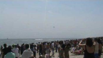 F-18 Breaks Sounds Barrier Above New York Beach