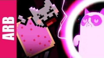Nyan Cat VS Grumpy Cat Animeme Rap Battle