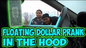 Floating Dollar Prank In The Hood