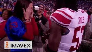 Greg Jones Proposes To Girlfriend At Super Bowl