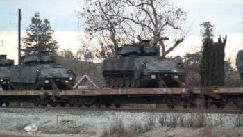 Endless Military Train