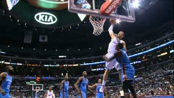 Blake Griffin Slam Dunks Over Kendrick Perkins