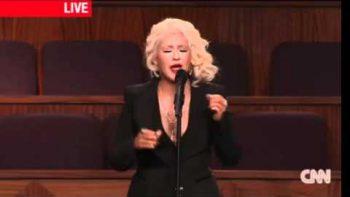 Christina Aguilera Sings At Last At Etta James' Funeral