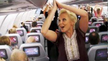 Surprise Bollywood Dance On Finnair Flight