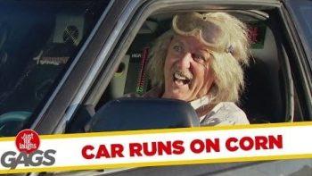 Car Runs On Corn, Shooting Popcorn From Exhaust Prank