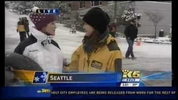 Seattle Snow Tuber Interrupts TV Reporter, Tells Her She Ruined The Fun