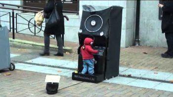 Miniature Dancing DJ Puppet Street Performance