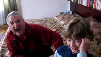 Grandson Surprise Visits Grandfather