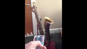 Homemade Saxophone Lamp Present