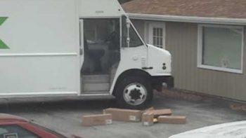 FedEx Deliveryman Throws Packages Off His Truck