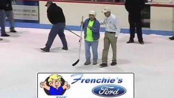 Woman Wins New Truck In 'Hole In One' Hockey Contest