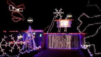 Playable Angry Birds Christmas Light Show