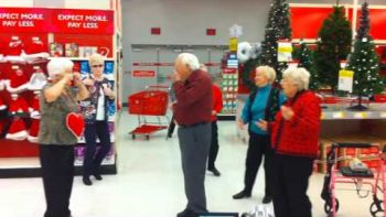 Seniors Dance To Last Christmas At Target
