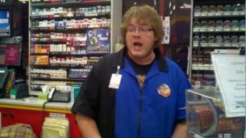 White Gas Station Clerk Raps Fast