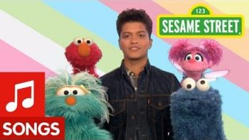 Bruno Mars Sings Don't Give Up On Sesame Street