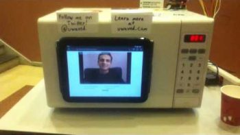 Microwave Plays YouTube Videos