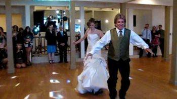 Father Daughter Roller Skates Wedding Dance