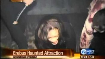 Reporter Freaks Out After She is Scared At The Haunted House She Is Reporting On