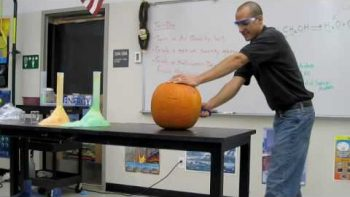 Chemistry Teacher Performs Exploding Pumpkin Trick In Class, Makes Jack-O-Lantern With Fiery Explosion