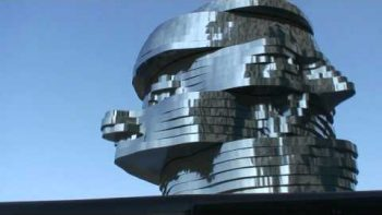 Giant Spinning Mirror Head Fountain