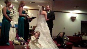 Bossy Flower Girl Even Shushes Pastor During Wedding Reception