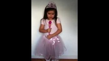 Little Girl In Princess Costume Sings Turn My Swag On