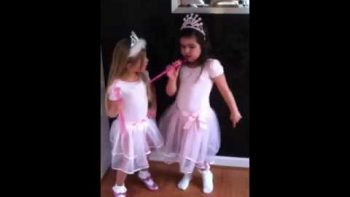 Little Girl In Princess Costume Covers Super Bass