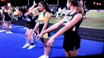 Cheerleader Backflip Fail