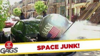 NASA Satellite Falls On Car Prank