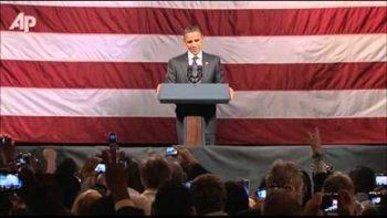 Christian Heckler Interrupts Obama Speech