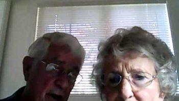 Adorable Older Couple Webcam Shenanigans
