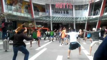 Flash Mob Haka Dance In New Zealand Mall