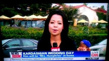 Boy Videobombs CNN Report On Kim Kardashian's Wedding