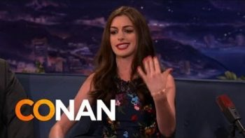 Anne Hathaway Raps About Paparazzi On Conan