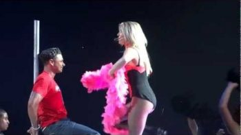 Britney Spears Gives DJ Pauly D A Lap Dance At Concert