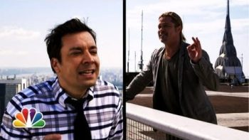 Jimmy Fallon And Brad Pitt Yodel From The Rooftops
