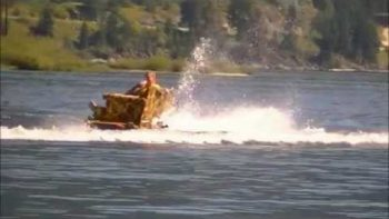 Water Skiing With A Couch