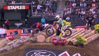 XGames Womens Dirt Bike Race FAIL