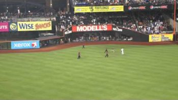 Fan Runs Onto Field At Mets Game, Evades Security