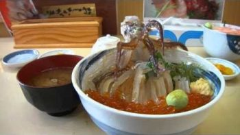 Japanese Dancing Squid Bowl Dish