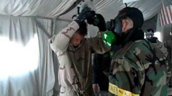 Soldiers Endure Tear Gas Training