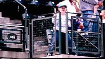 Boy's Epic Thriller Dance On Baseball Jumbotron
