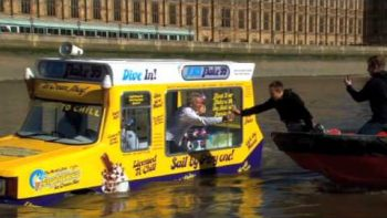 Cadbury Ice Cream Makes First Ice Cream Truck Boat Hybrid